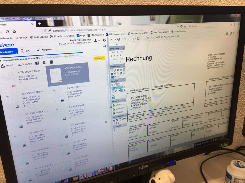 Docuware Dokumentenmangement Benutzeroberfläche Docuware