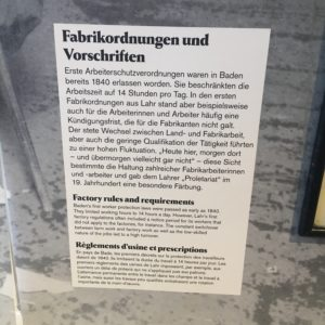 Tonofenfabrik Lahr - Arbeitsbedingungen von 1840