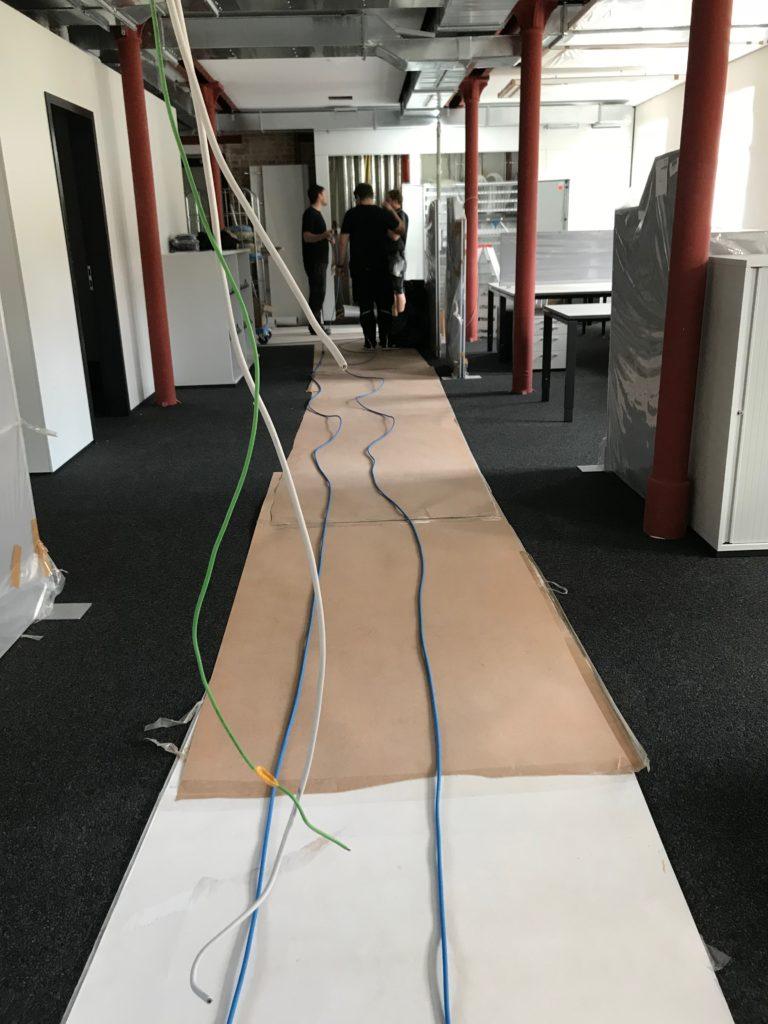 LWL Verkabelung - Leitungen sollten nicht geknickt werden