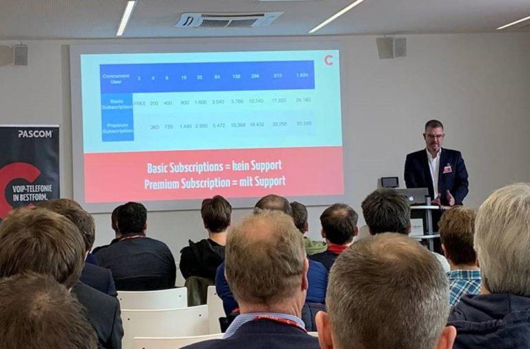 Andreas Pampuch und Armin Lustig besuchen die Pascom Partnertage 2019 in Regensburg