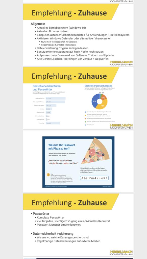 IT-Sicherheit Schulung Himmelsbach Computer Folie Tipps für zu Hause