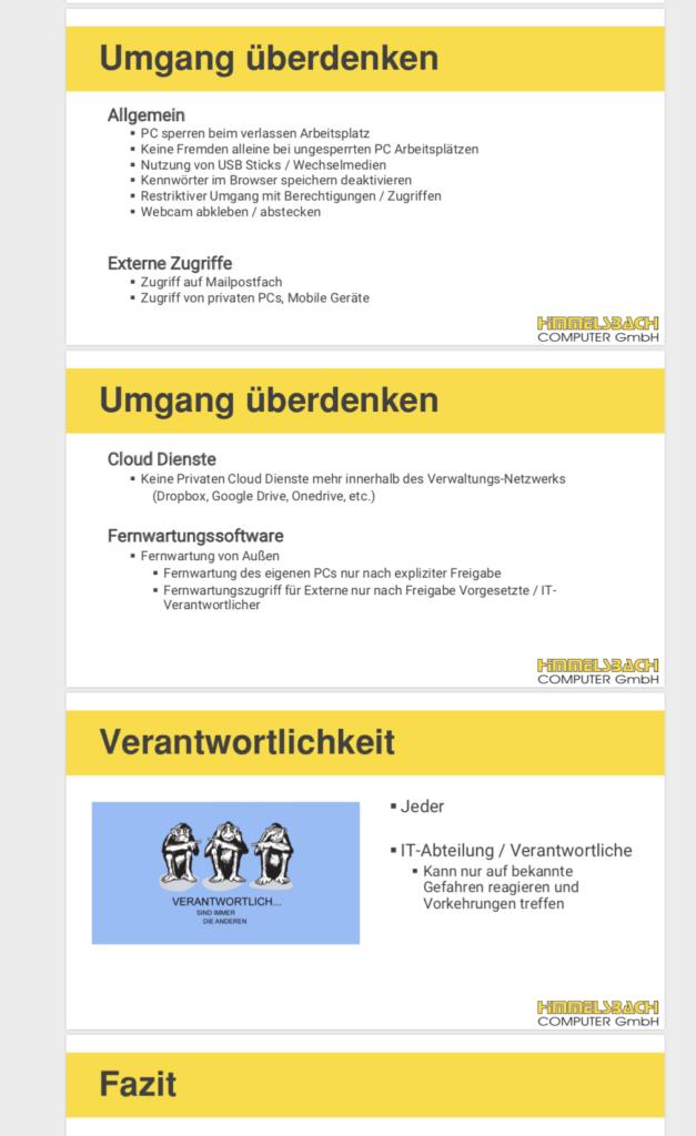 IT-Sicherheitsschulung Himmelsbach Computer - Folie Verantwortlichkeit