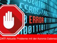 Acronis True Image verliert Backup-Einstellungen